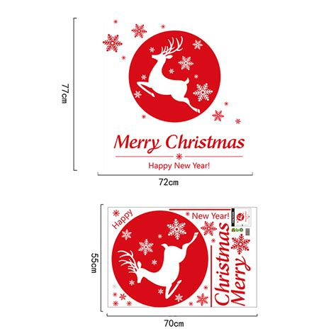 merry christmas wall art removable home vinyl window wall