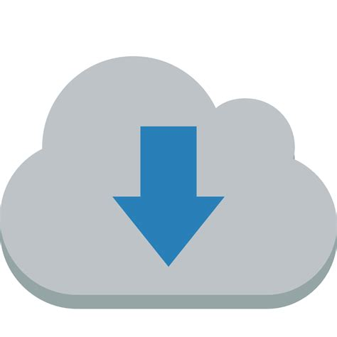 Cloud down Icon | Small & Flat Iconset | paomedia