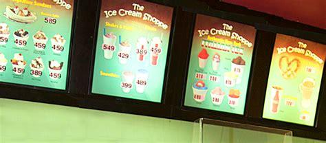 menu design melbourne digital menu design kiosk design motion menu mounted