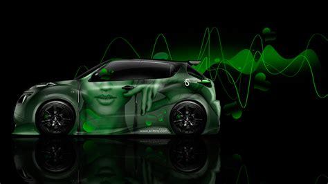 green nissan juke nissan juke r side glamour style aerography car 2014