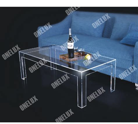 clear lucite coffee table one lux rectangular acrylic coffee table clear lucite