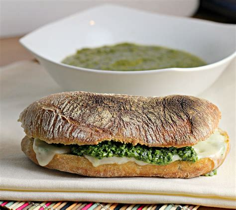 Link Mozzarella And Pesto Grilled Cheese by Green Goddess Soup And Pesto Mozzarella Grilled Cheese
