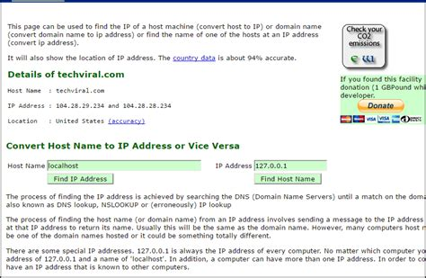 Ip Address Lookup For Website How To Find Server S Ip Address Of Any Website