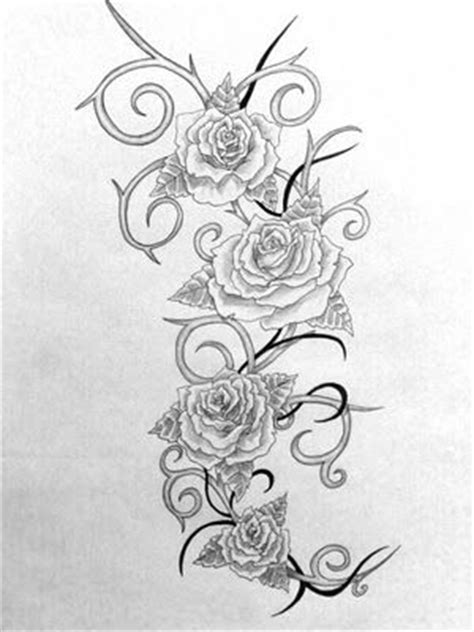 roses and thorns tattoo designs flowers and thorns clipart clipground