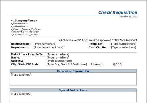 Check Requisition Form Template by Check Requisition Template Blue Layouts