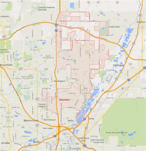 colorado united states map thornton colorado map