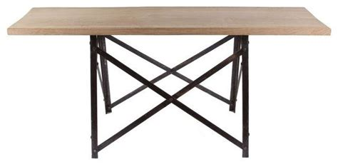 Rustic Narrow Dining Table Pre Owned Narrow Trestle Table Rustic Dining Tables By Chairish