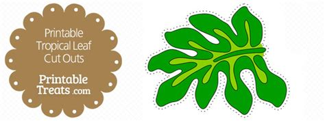 free printable green leaves printable dark green tropical leaf cut outs printable