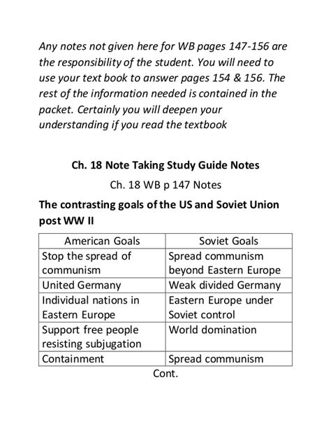 world history chapter 18 section 2 ch 18 wb p 147 156 note taking study guide notes