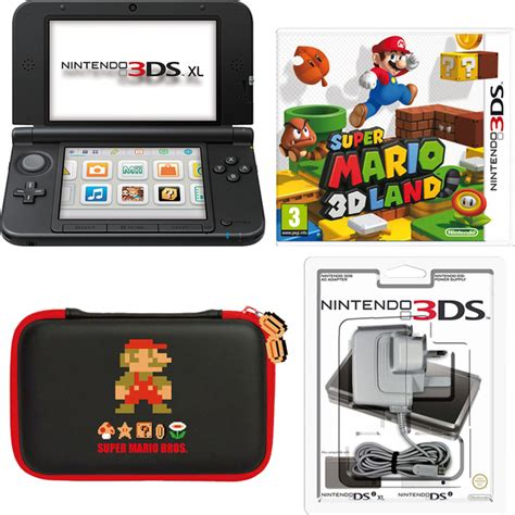 Nintendo 3ds Xl Mario 3d Land Original N3ds nintendo 3ds xl black mario 3d land pack nintendo official uk store
