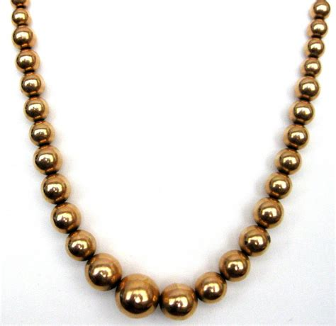 bead choker necklace antique 18k gold bead choker necklace for sale