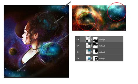 adobe photoshop galaxy tutorial how to create a galaxy inspired self portrait photo