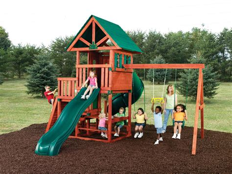 wooden swing set with slide southton swing set southton wood play set swing n