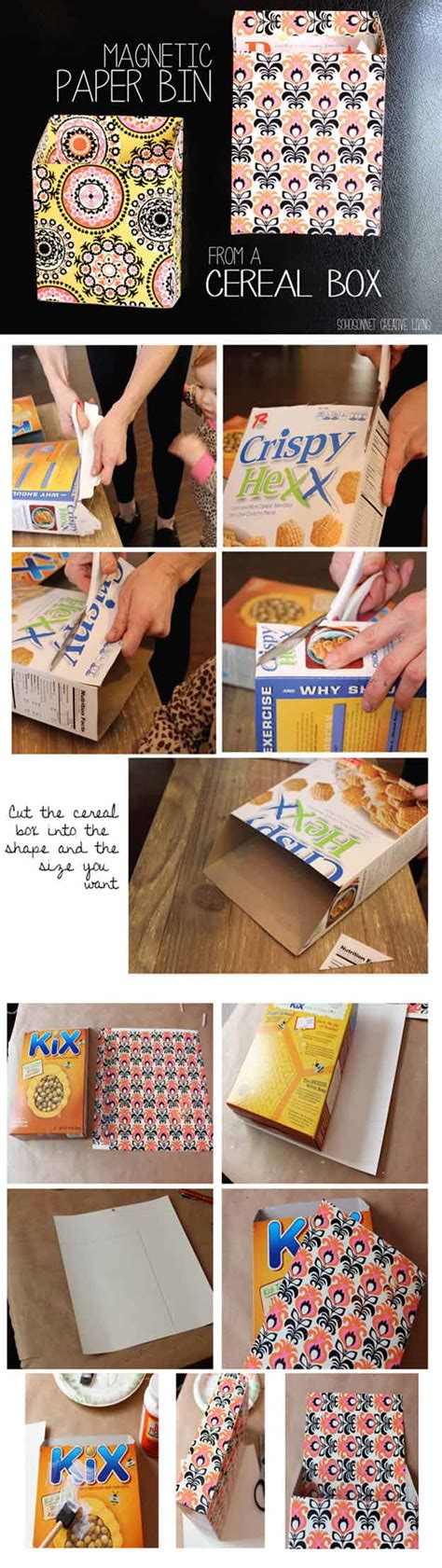 How To Make A Paper Organizer - 28 things you can make with cereal boxes diy crafts