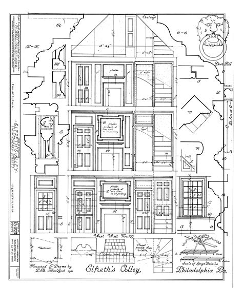 mansion blueprint the pennsylvania center for the book elfreth s alley