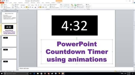 Powerpoint Countdown Timer Animation Youtube Countdown Timer For Ppt