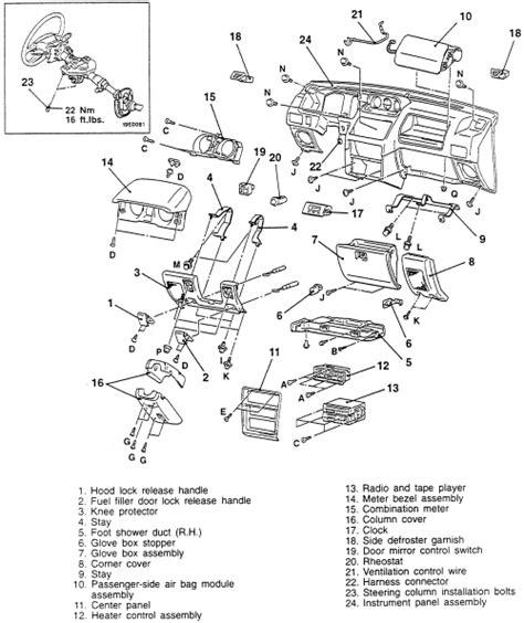 electric power steering 1994 mitsubishi pajero instrument cluster repair guides interior instrument panel autozone com