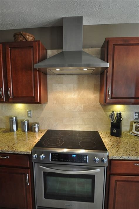 Kitchen Backsplash Ideas With New Venetian Gold Granite New Venetian Gold Granite Countertop With Tile Backsplash