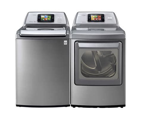 top loader washer dryer lg showcases mega capacity front and top loader washer