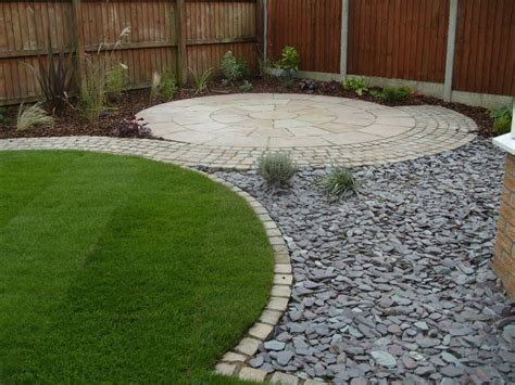 backyard flooring landscaping surprising wood fence fit to diy zen garden with round