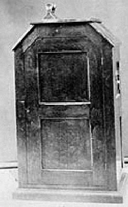 Thomas Edison's Kinetoscope -- a forerunner of projected