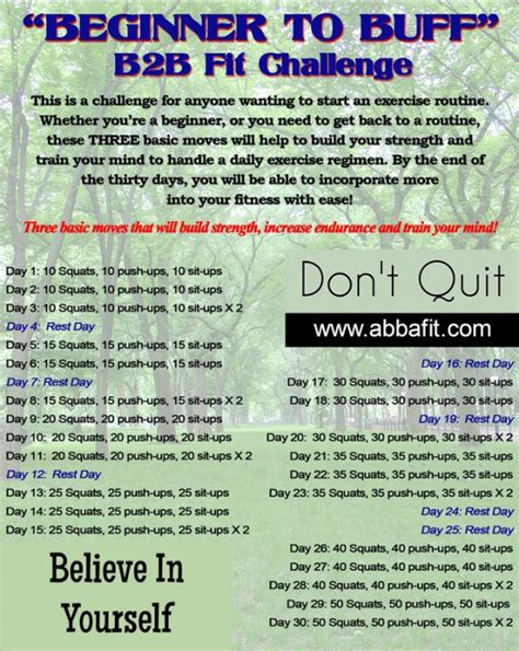 workout challenges for beginners my healthy start page 2
