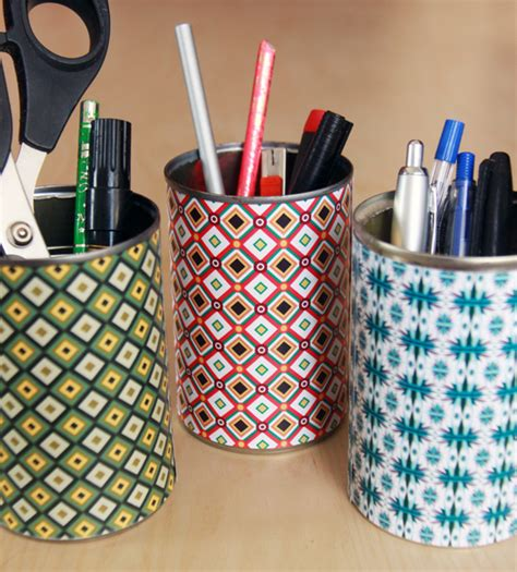 How To Make Desk Organizers by How To Make Colorful Desk Organizers World Of Pineapple
