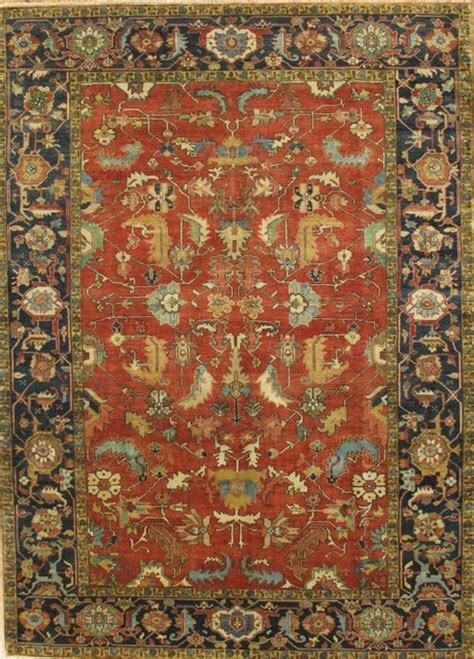 6x9 Wool Area Rugs Pasargad Serapi Collection Heriz Knotted Wool Traditional Area Rug 6x9 Traditional