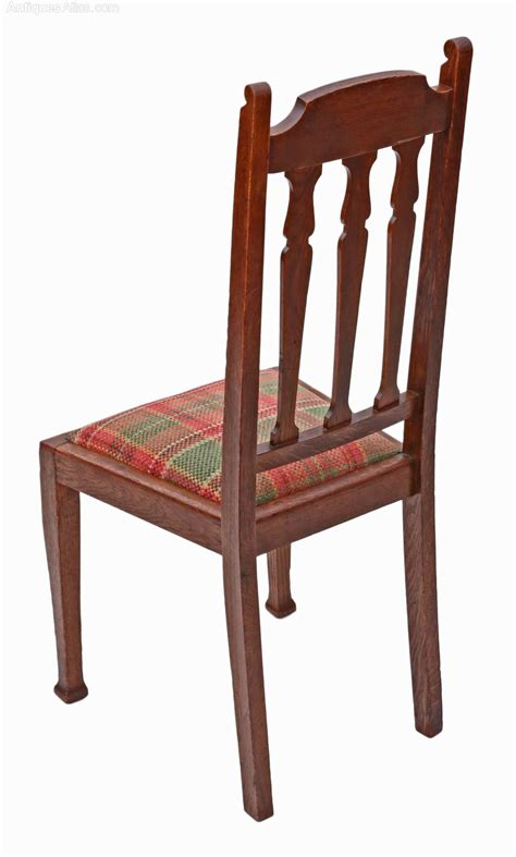 Dining Chairs Set Of 4 Set Of 4 Oak Dining Chairs Nouveau Antiques Atlas