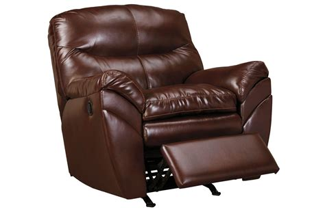 small leather rocker recliner ellwood bonded leather rocker recliner at gardner white