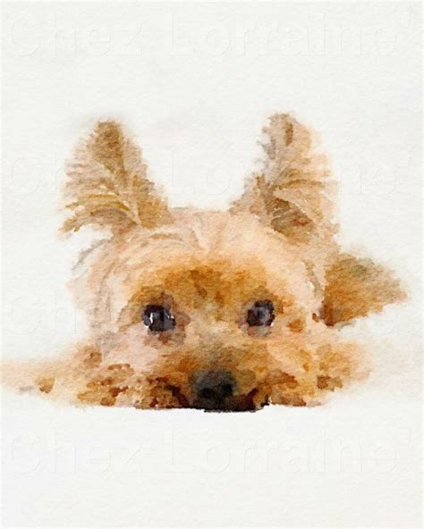 yorkie home decor yorkie puppy watercolor print terrier portrait pet canine home
