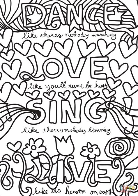 live coloring sing live coloring page free printable