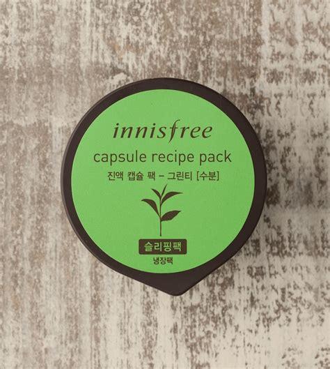 Innisfree Capsule Recipe Packs mặt nạ ngủ innisfree capsule recipe pack green tea jeju