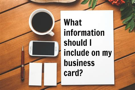 What Information Should Be On A Business Card what information should i include on my business card