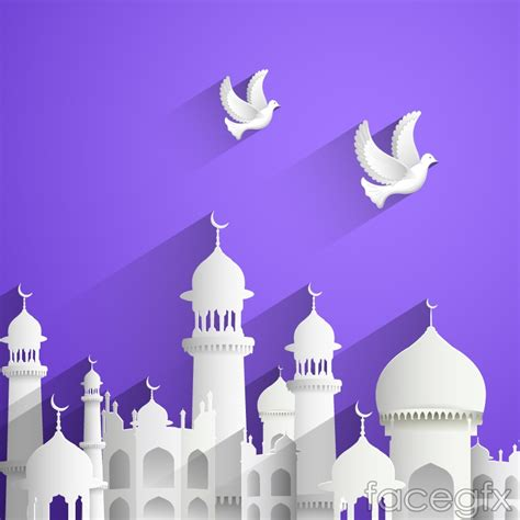 ppt templates free download islamic innovative islamic architecture and dove vector over