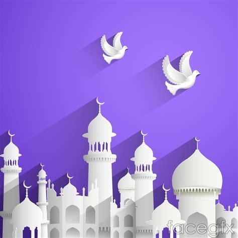 design masjid photoshop innovative islamic architecture and dove vector over
