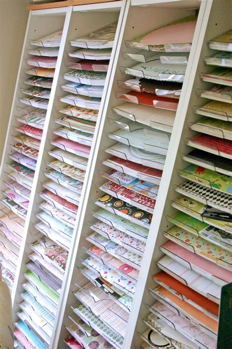 How To Make A Paper Organizer - 20 scrapbook paper storage ideas the scrap shoppe