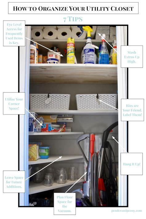 Organize Utility Closet by How To Organize Your Utility Closet Pender Peony A