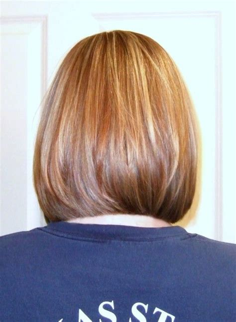medium layer hair stacked mid length bob with long layers and slight face frame