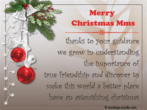 christmas messages for teachers wordings and messages