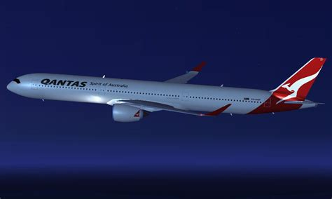 Library Design by Qantas Airbus A350 1000 Xwb For Fsx