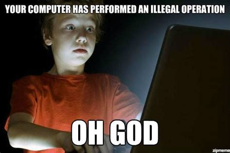 Computer Kid Meme - scared first day on the internet kid weknowmemes