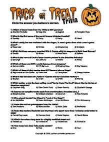 halloween printables printable halloween trivia
