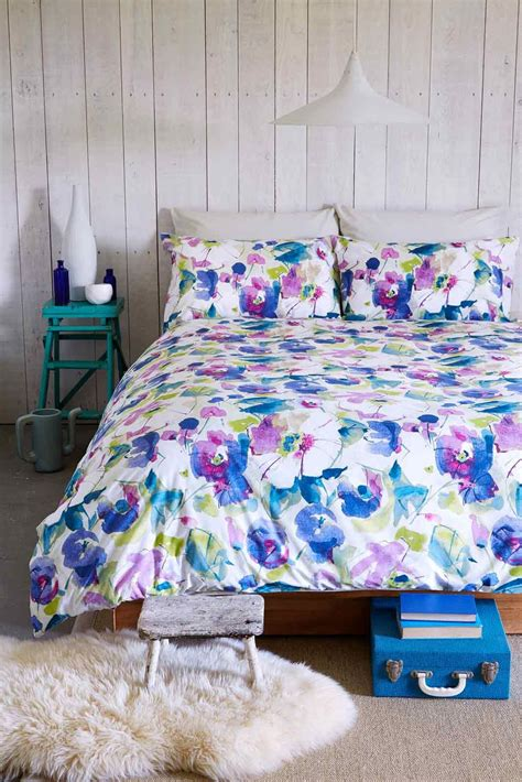 kingsley 174 malmo floral purple duvet cover quilt set single