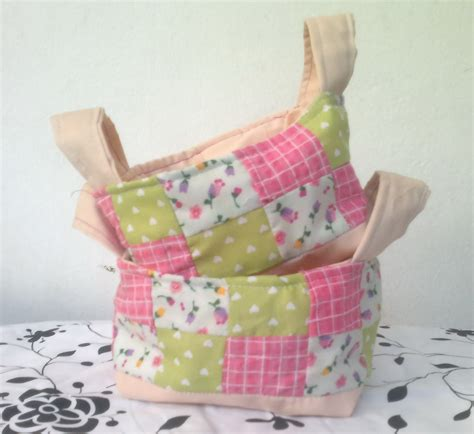 Patchwork Sewing Projects - patchwork fabric baskets sewing projects burdastyle