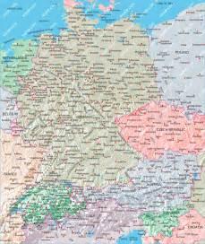 Germany Austria Map by Germany Switzerland Austria Map Illustrator Mountain