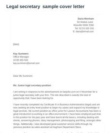 secretarial cover letter 7 cover letters free sle exle format