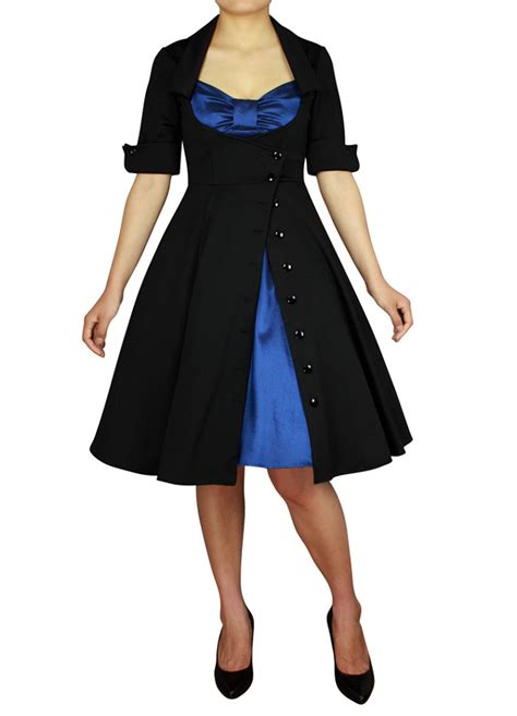 swing dance dress code rk91 rockabilly 50s side button party pin up evening retro