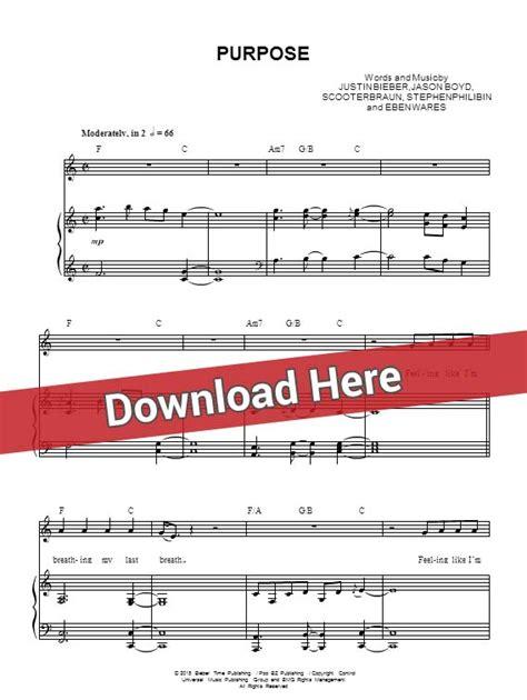 tutorial piano purpose justin bieber purpose sheet music piano notes chords