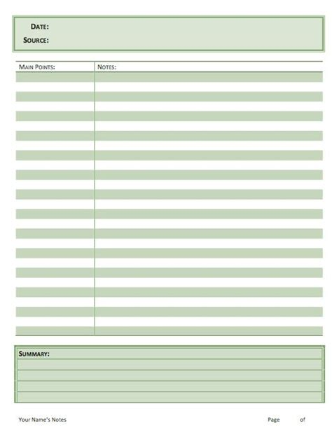 sermon notes template scriptures note and notes template